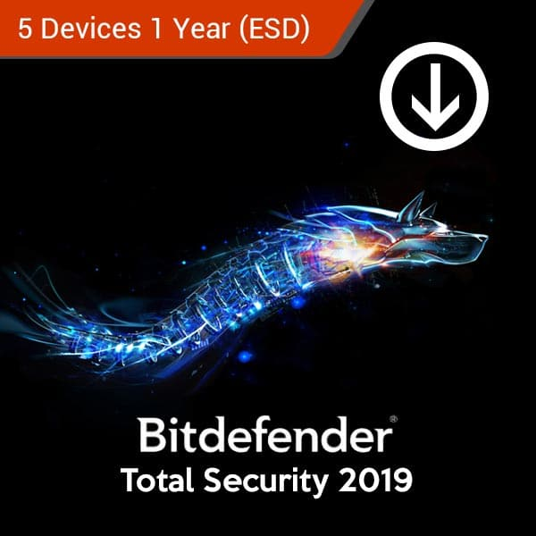 bitdefender total security 5 devices 1 years esd 2019
