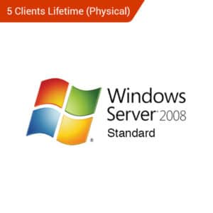 windows server 2008 standard 5 clients lifetime physical