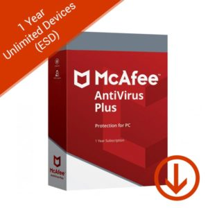 mcafee antivirus 1 year unlimited devices esd
