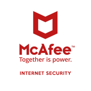 mcafee internet security brand logo
