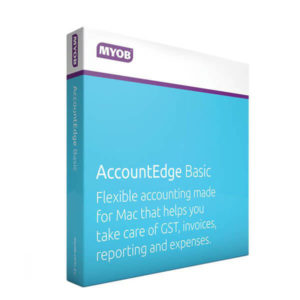 MYOB Account Edge Basic for MAC box