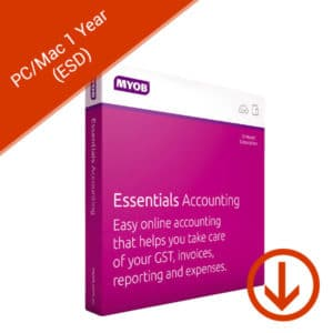 MYOB essentials accounting with unlimited payroll for pc/mac 1 year esd