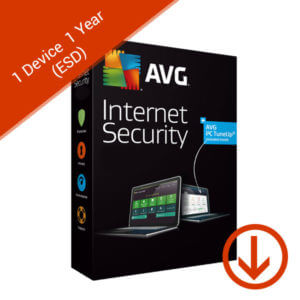 avg internet security 1 device 1 year esd
