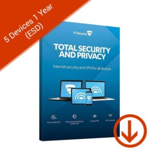 f-secure total security and privacy 5 devices 1 years esd