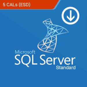 SQL server 2017 standard 5 cals esd softvire product