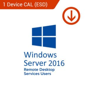 windows server 2016 remote desktop services users 1 device cal esd