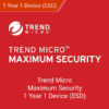 Trend Micro Maximum Security 2019 1 Year 1 Device (ESD)