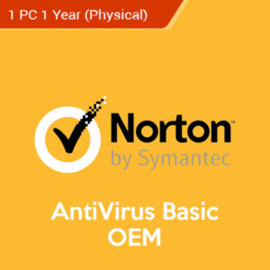 norton antivirus basic oem 1 year 1 pc physical