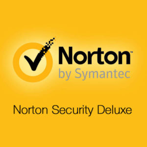 Norton Security Deluxe - cover photo with yellow background