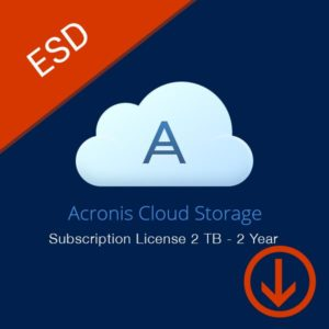 acronis cloud storage subscription license 2 tb 2 year box