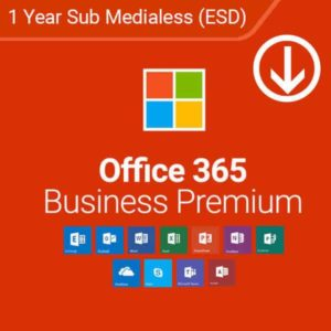 office 365 business premium 1 year sub medialess esd